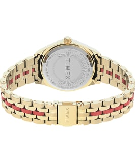 Waterbury Legacy Boyfriend Malibu 36mm Stainless Steel Bracelet Watch Gold-Tone/Orange large