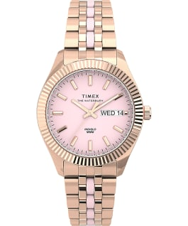 Waterbury Legacy Boyfriend 36mm Stainless Steel Bracelet Watch with Inlay Rose-Gold-Tone/Pink large