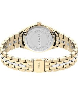 Waterbury Legacy Boyfriend 36mm Stainless Steel Bracelet Watch with Inlay Gold-Tone/White large