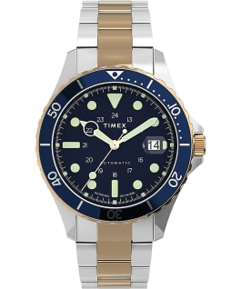 Navi XL Automatic 41mm Stainless Steel Bracelet Watch Stainless-Steel/Two-Tone/Blue/Other large