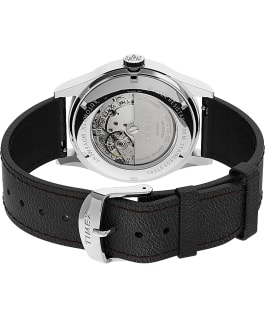 Waterbury Traditional Automatic 39mm Leather Strap Watch Stainless-Steel/Black/Silver-Tone large