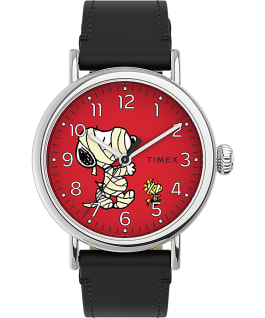 Timex Standard x Peanuts Featuring Snoopy Halloween Silver-Tone/Black/Red large
