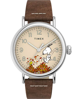 Timex Standard x Peanuts Featuring Snoopy Autumn Silver-Tone/Tan/Cream large