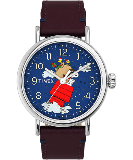 Timex Standard x Peanuts Featuring Snoopy Christmas Silver-Tone/Red/Blue large