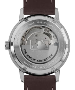 Marlin Automatic New York Yankees Stainless-Steel/Brown/Silver-Tone large