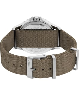 Navi XL 41mm Fabric Strap Watch Stainless-Steel/Tan/Black large