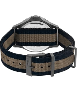 Navi XL 41mm Fabric Strap Watch Gunmetal/Blue large