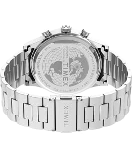Waterbury Traditional Chronograph 39mm Stainless Steel Bracelet Watch Stainless-Steel/Blue large