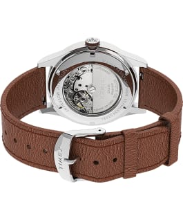 Waterbury Traditional Automatic 39mm Leather Strap Watch Stainless-Steel/Tan/Blue large