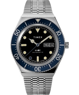 Timex x NN07 40mm Automatic Stainless Steel Bracelet Watch Stainless-Steel/Blue large