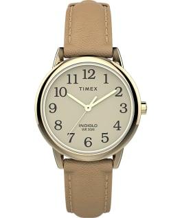 Reloj Easy Reader de 30mm con correa de cuero Dorado/Tostado/Crema large