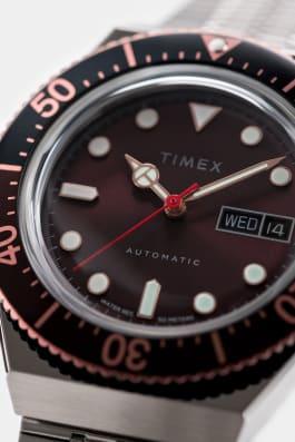 Montre M79Automatic 40mm Bracelet en acier inoxydable Acier inoxydable/Marron large