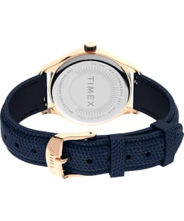 Waterbury Traditional 34mm Leather Strap Watch Rose-Gold-Tone/Blue/White large