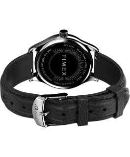 Waterbury Traditional 34mm Leather Strap Watch Stainless-Steel/Black/White large