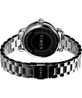 Timex Standard 34mm Stainless Steel Bracelet Watch with Moon Phase Silver-Tone/Mother-of-Pearl large