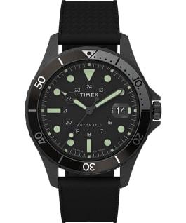 Navi XL Automatic 41mm Stainless Steel Bracelet Watch, Black/Black, large