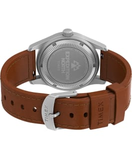 Expedition North Field Post Mechanical 38mm Eco-Friendly Leather Strap Watch Stainless-Steel/Brown/Blue large