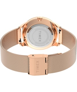 Celestial Opulence 32mm Stainless Steel Mesh Band Watch Rose-Gold-Tone/White large