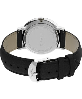 Southview 41mm Leather Strap Watch AMZ Silver-Tone/Black large