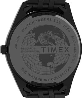 Waterbury Legacy 41mm Stainless Steel Bracelet Watch Gunmetal/Black large