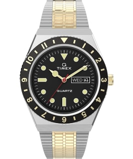 Q Timex Reissue 38mm Stainless Steel Bracelet Watch Stainless-Steel/Two-Tone/Black large