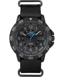 Expedition Gallatin 44mm Nylon Strap Watch Black large