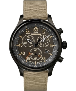 Expedition Field Chronograph 43mm Fabric Watch Black/Tan large