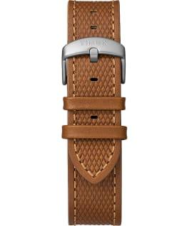 Zegarek Expedition Ranger Solar z kopertą 43 mm i skórzanym paskiem Srebrny/Jasnobrązowy/Niebieski large