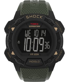 Expedition Chrono Alarm Timer 43mm Resin Strap Watch AMZ Black/Green/Tan large