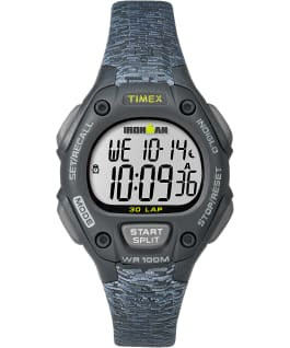 IRONMAN Classic 30 Mid-Size 34mm Patterned Resin Strap Watch Black/Gray large
