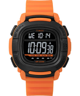 BST mit Silikonarmband, 47 mm Orange/schwarz large