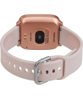 iConnect by Timex Active 37mm Resin Strap Smartwatch Gold-Tone/Pink large