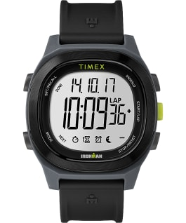 TIMEX IRONMAN Transit with Timex Pay 40mm Resin Strap Watch Black/Gray large