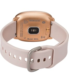 iConnect by Timex Premium Active 36mm Silicone Strap Smartwatch Rose-Gold-Tone/Pink large