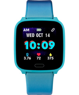 iConnect by Timex Kids Active 37mm Resin Strap Smartwatch Blue large