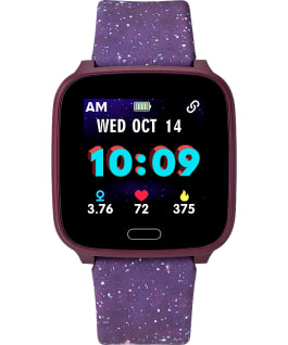 iConnect by Timex Kids Active 37mm Resin Strap Smartwatch Purple large
