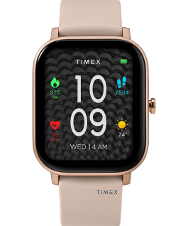 Timex Metropolitan S 36mm Silicone Strap Watch Rose-Gold-Tone/Pink large