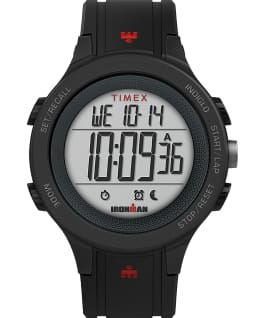 TIMEX IRONMAN T200 42mm Silicone Strap Watch Black large