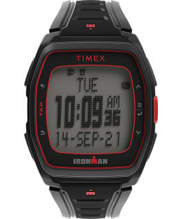 TIMEX IRONMAN T300 Silicone Strap Watch Black/Red large