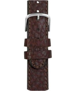 Grand bracelet en cuir brun 18mm