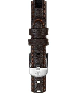 Grand bracelet en cuir brun pour hommes 12mm