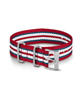 Grand bracelet en nylon 20 mm rouge