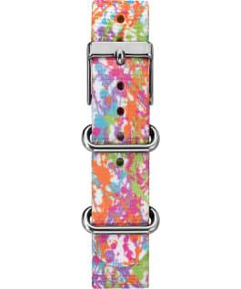 Grand bracelet en nylon blanc à motif multicolore 16mm