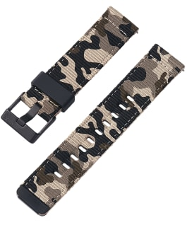22mm Quick Release Tan and Camo Fabric Strap Camo large