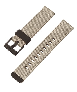 22mm Quick Release Tan and Camo Fabric Strap Tan large