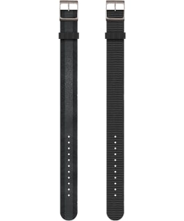 Reversible Double Weave Fabric Strap in Black, Black, large