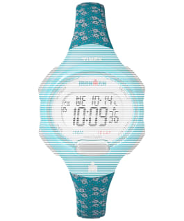 Replacement 12mm Floral Resin Strap for Ironman Essential 10 Mid-Size, Blue, large