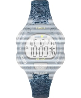Replacement Resin 14mm Patterned Strap for Ironman Classic 30 Mid-Size, Blue, large