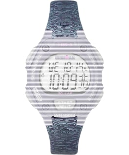 Replacement Resin 14mm Patterned Strap for Ironman Classic 30 Mid-Size, Purple, large
