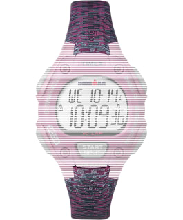 Replacement Resin 14mm Patterned Strap for Ironman Classic 30 Mid-Size, Pink, large